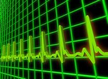 Ekg/ecg pulse diagram. Human heart beat pulse 3D diagram Royalty Free Stock Photography
