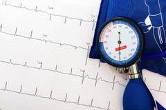 Ekg et mesure de tension artérielle Images libres de droits