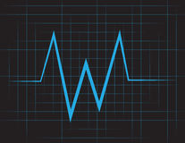 EKG Grid Stock Photo