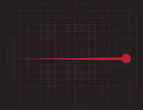 EKG Grid Red Stock Images