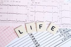EKG for a healthy life Stock Image