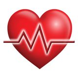 EKG Heart. Digital illustration concept of EKG Stock Photo