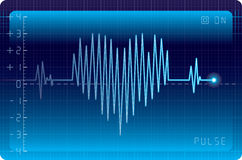 EKG heart. Electrocardiogram with heart shape. Eps8. CMYK. Organized by layers. Easy recolor. Two global colors. Gradients used Royalty Free Stock Image