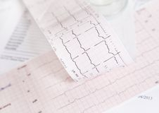 EKG heart rate control Stock Image