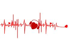 Ekg illustration Stock Photo