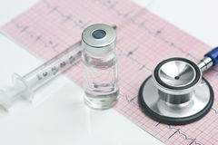 EKG Injection Stock Photo