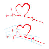 EKG of love Royalty Free Stock Photos