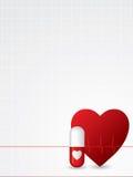 Ekg poster design Stock Image