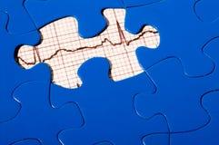 EKG Puzzlespiel Stockbilder