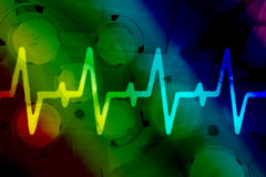 Ekg signal Royalty Free Stock Image