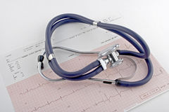 EKG and stethoscope Royalty Free Stock Photography