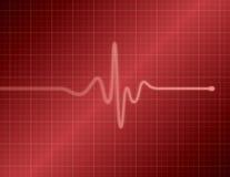 EKG - Vermelho Fotografia de Stock