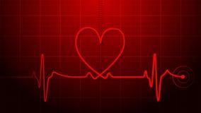 ekgelectrocardiogram stock illustrationer