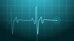 ekgelectrocardiogram vektor illustrationer