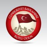 29 Ekim Cumhuriyet Bayrami Översättning: 29 oktober republikdag Turkiet och den nationella dagen i Turkiet royaltyfri illustrationer
