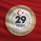 29 Ekim Cumhuriyet Bayrami Översättning: 29 oktober republikdag Turkiet och den nationella dagen i Turkiet vektor illustrationer