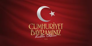 29 Ekim Cumhuriyet Bayrami Übersetzung: Am 29. Oktober Tag der Republik die Türkei und der Nationaltag in der Türkei, Anschlagtaf lizenzfreie stockbilder