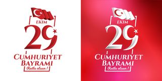 Ekim Cumhuriyet Bayrami dell'illustrazione 29 di vettore Fotografia Stock