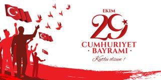 Ekim Cumhuriyet Bayrami för vektorillustration 29 Royaltyfri Foto