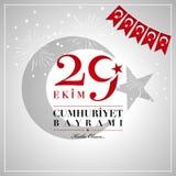 29 Ekim Cumhuriyet Bayrami 29 octobre jour national o de République illustration libre de droits