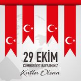 29 Ekim Cumhuriyet Bayrami - 29 Oktober de Dag van de Republiek in Turkije, vector royalty-vrije illustratie