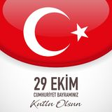 29 Ekim Cumhuriyet Bayrami - Oktober 29 republikdag i Turkiet, vektor stock illustrationer