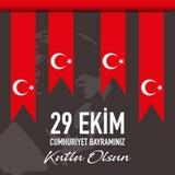29 Ekim Cumhuriyet Bayrami - Oktober 29 republikdag i Turkiet, vektor vektor illustrationer