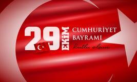 29 Ekim Cumhuriyet Bayrami - Oktober 29 republikdag Turkiet stock illustrationer
