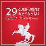 29 Ekim Cumhuriyet Bayrami Significado turco: República del 29 de octubre stock de ilustración
