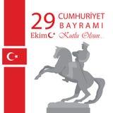 29 Ekim Cumhuriyet Bayrami Significado turco: República del 29 de octubre ilustración del vector