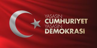 29 Ekim Cumhuriyet Bayrami Traduction : Jour Turquie de République du 29 octobre et le jour national en Turquie illustration de vecteur