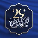 29 Ekim Cumhuriyet Bayrami Traduction : Jour Turquie de République du 29 octobre et le jour national en Turquie illustration libre de droits