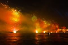29 Ekim. Istanbul celebrates to Anniversary of Republic with a great show on October 29 Stock Image
