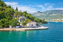 Ekklisia Agia Kiriaki church in Nydri at Lefkada island in Greece. royalty free stock photo