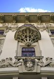Eklektiska fasaddetaljer royaltyfri foto