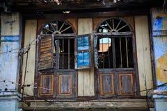 Eklektiskt förstört fönster för svårigheter Royaltyfria Foton