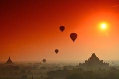 Eklipse in Bagan Stockfotos
