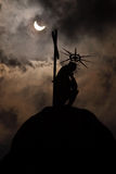 Eklipse der Sonne stockfoto
