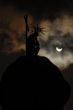 Eklipse der Sonne stockbild