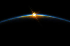 Eklipse - Mondsonnenaufgang Lizenzfreies Stockfoto