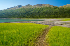 Eklutna Lake in Alaska Stock Photo