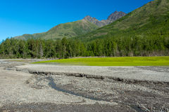 Eklutna Lake in Alaska Royalty Free Stock Image