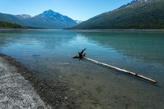 Eklutna lake in Alaska. Royalty Free Stock Images
