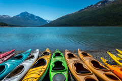 Eklutna lake in Alaska. Royalty Free Stock Image