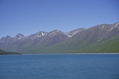 Eklutna Lake, Alaska Royalty Free Stock Photos