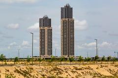 Eko Атлантик-Сити Лагос Нигерия; небоскребы в новом городе стоковые изображения