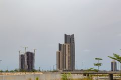 Eko Атлантик-Сити Лагос Нигерия стоковое фото