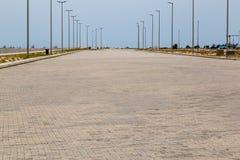 Eko Atlantic City Lagos Nigeria; Breite Boulevards der neuen Stadt lizenzfreie stockbilder
