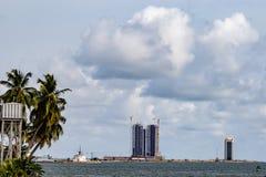 Eko Atlantic City Lagos Nigeria; Wolkenkratzer in der neuen Stadt stockbilder