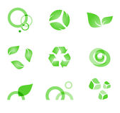 Eko-symbols. Green elements for green designs Stock Photography